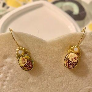 Kirks Folly Victorian flower earrings